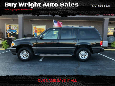 1998 Mercury Mountaineer for sale at Buy Wright Auto Sales in Rogers AR