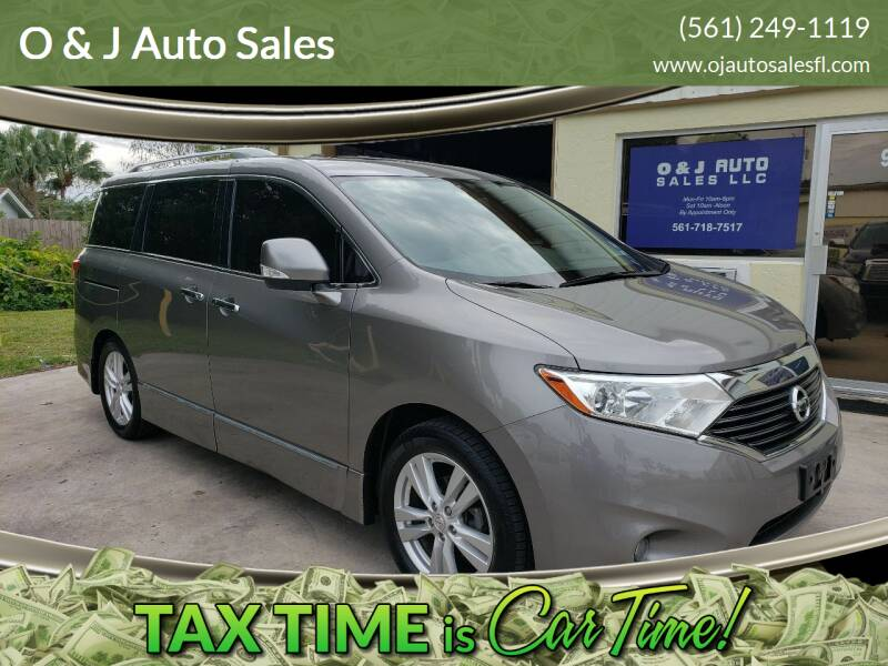 2012 Nissan Quest for sale at O & J Auto Sales in Royal Palm Beach FL