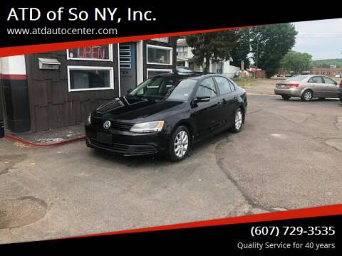 2012 Volkswagen Jetta for sale at ATD of So NY, Inc. in Johnson City NY
