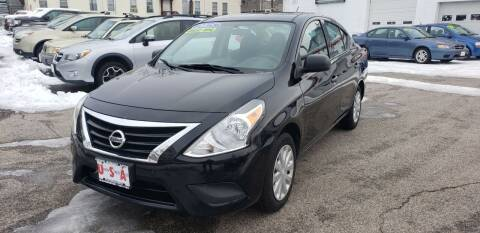 2015 Nissan Versa for sale at Union Street Auto in Manchester NH