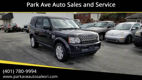 2011 Land Rover LR4 for sale at Park Ave Auto Sales and Service in Cranston RI