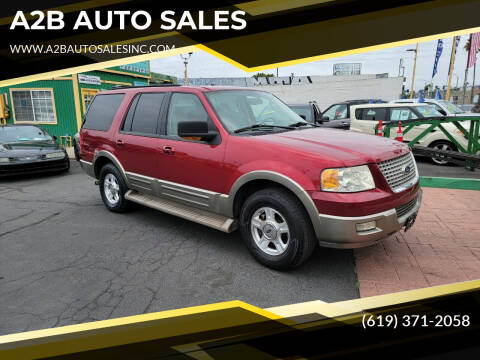 2004 Ford Expedition for sale at A2B AUTO SALES in Chula Vista CA