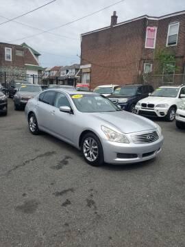 2009 Infiniti G37 Sedan for sale at Key and V Auto Sales in Philadelphia PA