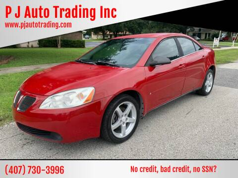 2007 Pontiac G6 for sale at P J Auto Trading Inc in Orlando FL