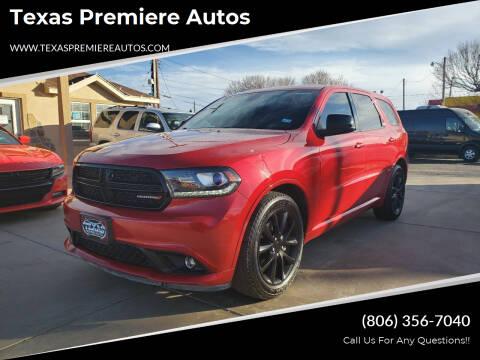 2018 Dodge Durango for sale at Texas Premiere Autos in Amarillo TX