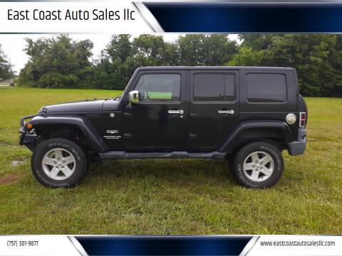 2010 Jeep Wrangler Unlimited for sale at East Coast Auto Sales llc in Virginia Beach VA