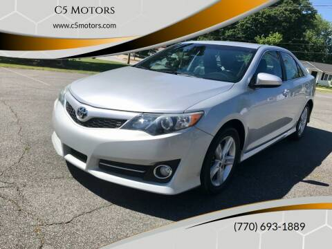 2013 Toyota Camry for sale at C5 Motors in Marietta GA