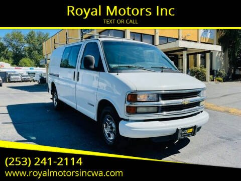 2001 Chevrolet Express Cargo for sale at Royal Motors Inc in Kent WA