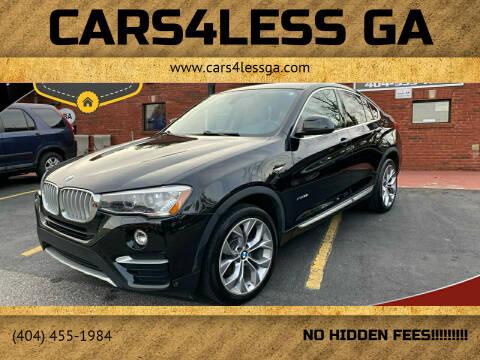 2017 BMW X4 for sale at Cars4Less GA in Alpharetta GA