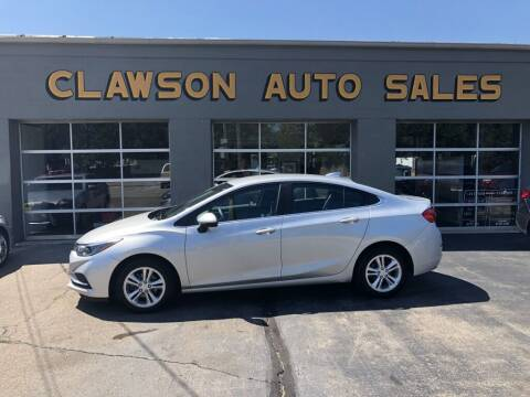 2018 Chevrolet Cruze for sale at Clawson Auto Sales in Clawson MI