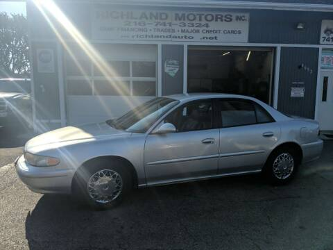 2003 Buick Century for sale at Richland Motors in Cleveland OH