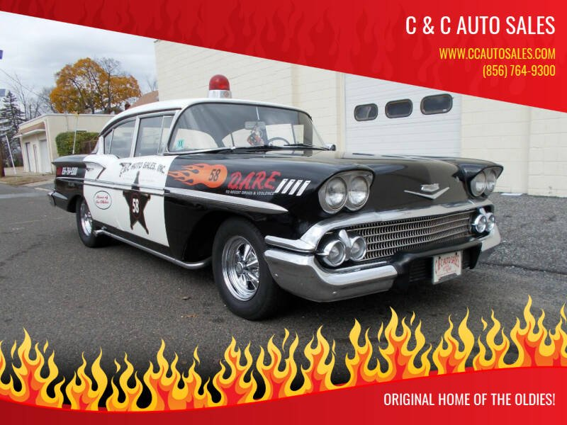 1958 Chevrolet Bel Air for sale at C & C AUTO SALES in Riverside NJ