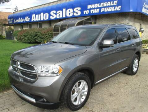 2012 Dodge Durango for sale at Lookin-Nu Auto Sales in Waterford MI
