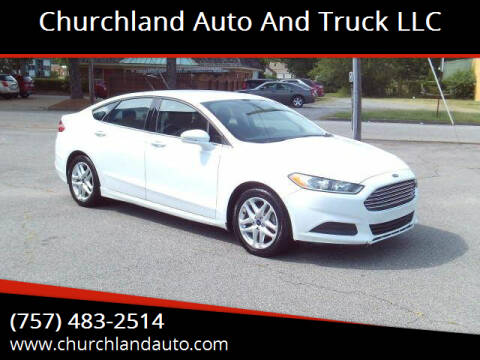 2015 Ford Fusion for sale at Churchland Auto and Truck LLC in Portsmouth VA