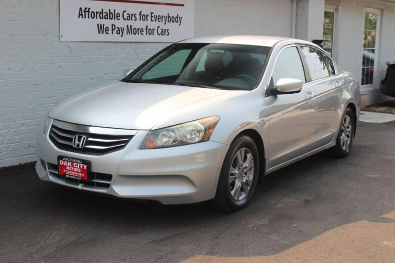 2012 Honda Accord for sale at Oak City Motors in Garner NC