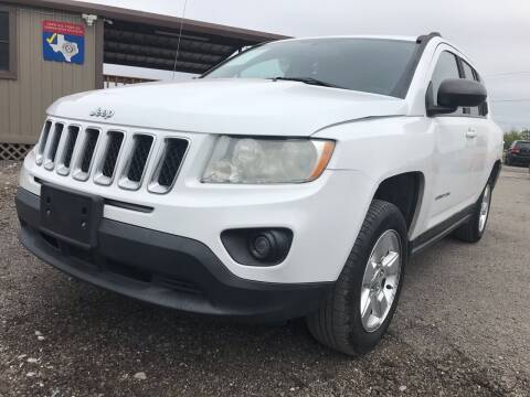 2013 Jeep Compass for sale at Texas Country Auto Sales LLC in Austin TX