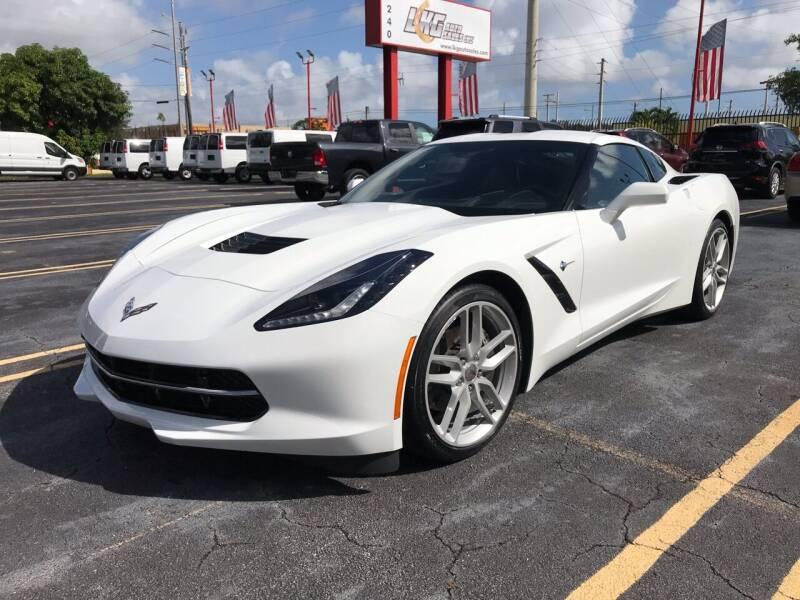 2019 Chevrolet Corvette for sale at LKG Auto Sales Inc in Miami FL