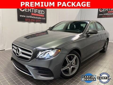 2018 Mercedes-Benz E-Class for sale at CERTIFIED AUTOPLEX INC in Dallas TX