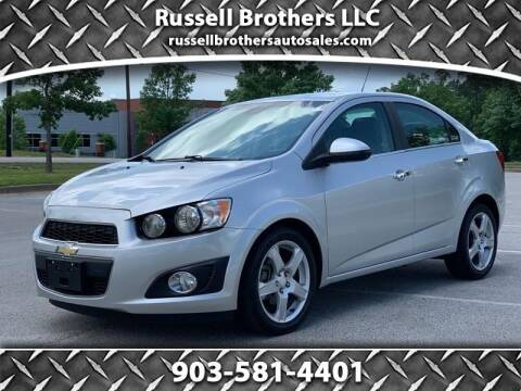2015 Chevrolet Sonic for sale at Russell Brothers Auto Sales in Tyler TX