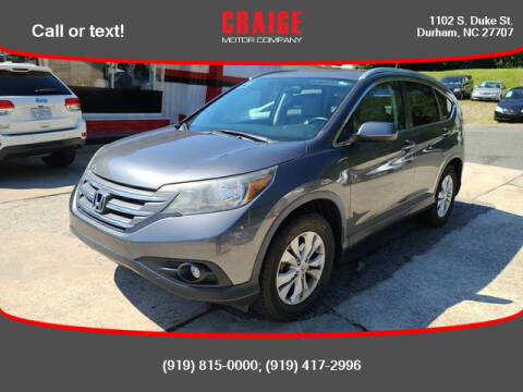 2012 Honda CR-V for sale at CRAIGE MOTOR CO in Durham NC