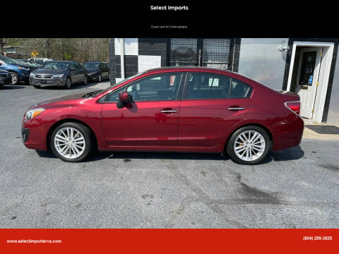 2012 Subaru Impreza for sale at Select Imports in Ashland VA