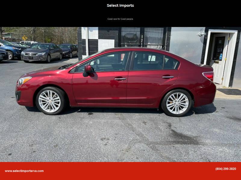 2012 Subaru Impreza for sale at Select Imports in Ashland VA