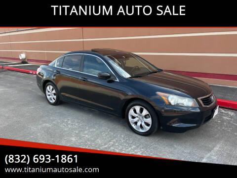 2009 Honda Accord for sale at TITANIUM AUTO SALE in Houston TX