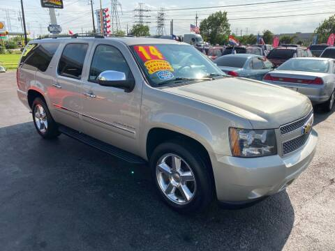 2014 Chevrolet Suburban for sale at Texas 1 Auto Finance in Kemah TX