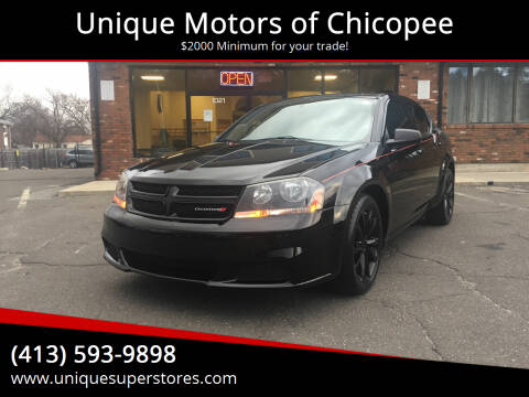 2014 Dodge Avenger for sale at Unique Motors of Chicopee in Chicopee MA