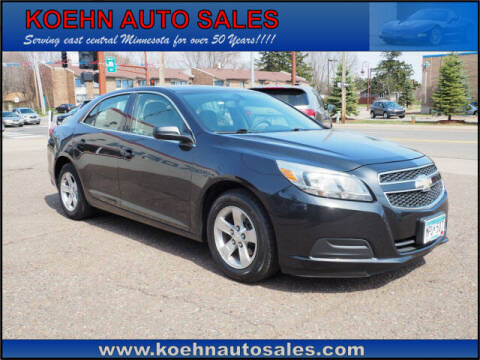 2013 Chevrolet Malibu for sale at Koehn Auto Sales in Lindstrom MN