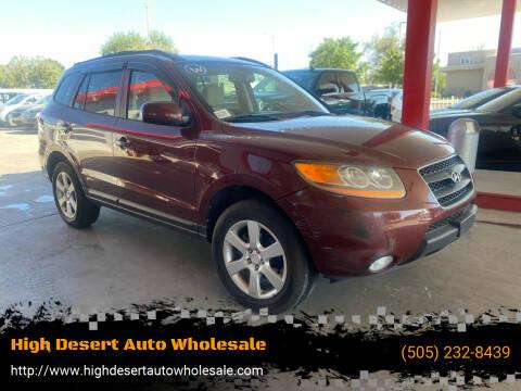 2008 Hyundai Santa Fe for sale at High Desert Auto Wholesale in Albuquerque NM