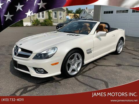2011 Mercedes-Benz SL-Class for sale at James Motors Inc. in East Longmeadow MA