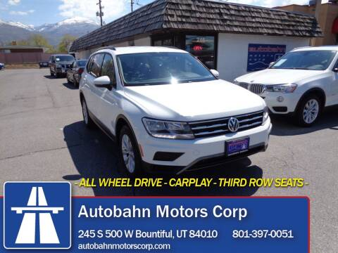 2018 Volkswagen Tiguan for sale at Autobahn Motors Corp in Bountiful UT