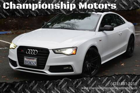 2017 Audi S5 for sale at Mudarri Motorsports - Championship Motors in Redmond WA