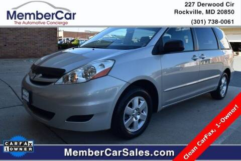2006 Toyota Sienna for sale at MemberCar in Rockville MD