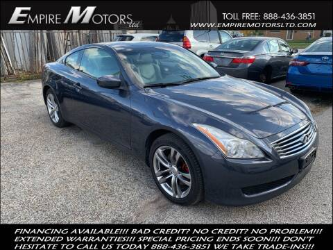 2009 Infiniti G37 Coupe for sale at Empire Motors LTD in Cleveland OH