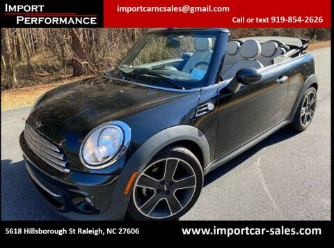 2013 MINI Convertible for sale at Import Performance Sales in Raleigh NC