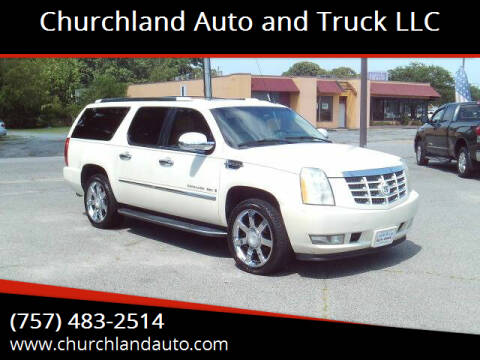 2008 Cadillac Escalade ESV for sale at Churchland Auto and Truck LLC in Portsmouth VA