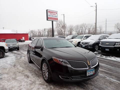 2013 Lincoln MKS for sale at Marty's Auto Sales in Savage MN