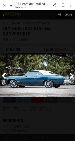 1971 Pontiac Catalina for sale at Advantage Auto Sales & Imports Inc in Loves Park IL