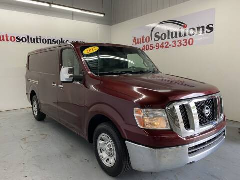 2012 Nissan NV Cargo for sale at Auto Solutions in Warr Acres OK