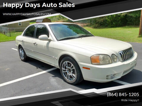 2003 Kia Optima for sale at Happy Days Auto Sales in Piedmont SC