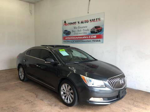 2016 Buick LaCrosse for sale at Antonio's Auto Sales in South Houston TX