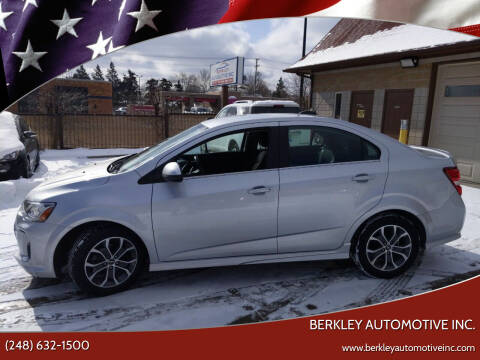 2017 Chevrolet Sonic for sale at Berkley Automotive Inc. in Berkley MI