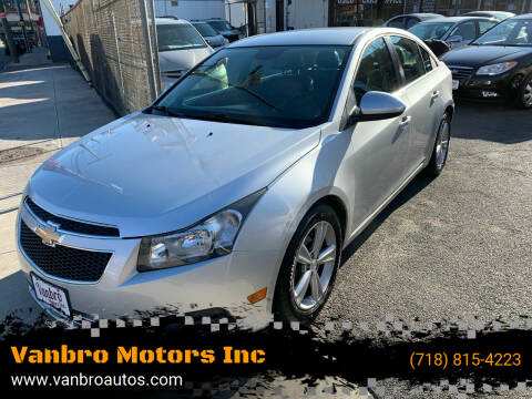 2012 Chevrolet Cruze for sale at Vanbro Motors Inc in Staten Island NY