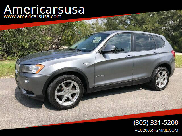 2011 BMW X3 for sale at Americarsusa in Hollywood FL