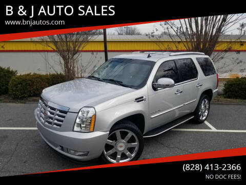 2010 Cadillac Escalade for sale at B & J AUTO SALES in Morganton NC