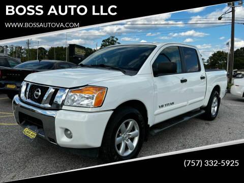 2014 Nissan Titan for sale at BOSS AUTO LLC in Norfolk VA