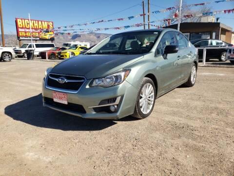 2015 Subaru Impreza for sale at Bickham Used Cars in Alamogordo NM