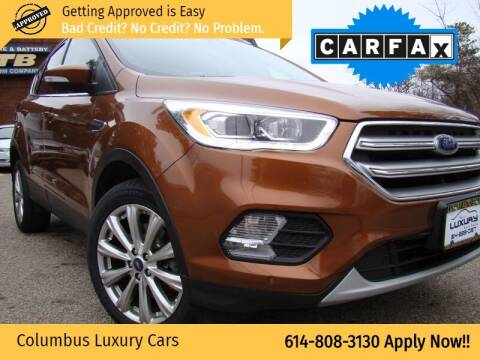 2017 Ford Escape for sale at Columbus Luxury Cars in Columbus OH